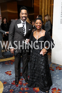Keith Harley, Gloria Mayfield Banks. Photo by Tony Powell. 2017 N Street Village Gala. Marriott Marquis. March 14, 2017