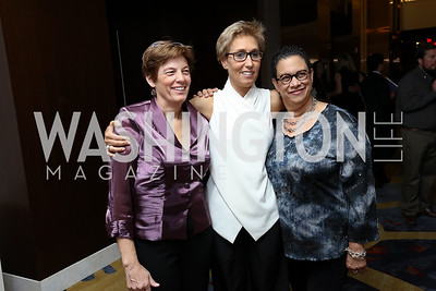 Kate Patterson, Schroeder Stribling, Gina Hough. Photo by Tony Powell. 2017 N Street Village Gala. Marriott Marquis. March 14, 2017