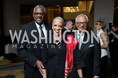 James Staton, Johnetta Cole, Ron Galvin. Photo by Tony Powell. 2017 N Street Village Gala. Marriott Marquis. March 14, 2017