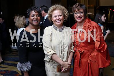 Monica Thompson, Debra Lee, Debbi Jarvis. Photo by Tony Powell. 2017 N Street Village Gala. Marriott Marquis. March 14, 2017