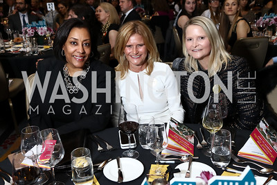Joyce Brayboy, Melissa Maxfield, Melinda Maxfield. Photo by Tony Powell. 2017 N Street Village Gala. Marriott Marquis. March 14, 2017