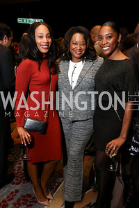 Jacqueline Nassy, Kim Bassett, Emerald Stewart. Photo by Tony Powell. 2017 N Street Village Gala. Marriott Marquis. March 14, 2017