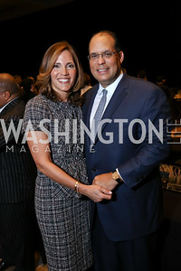 Gala Co-Chairs Hillary and Tom Baltimore. Photo by Tony Powell. 2017 N Street Village Gala. Marriott Marquis. March 14, 2017