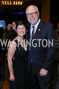Kasey and Rep. Joe Crowley. Photo by Tony Powell. 2017 N Street Village Gala. Marriott Marquis. March 14, 2017