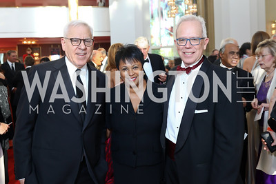 David Rubenstein, Librarian of Congress Carla Hayden, Robert Newlen. Photo by Tony Powell. 2017 NSO Gala. Kennedy Center. September 24, 2017