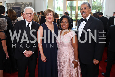 David Rubenstein, Deborah Rutter, Gala Chairs Amanda and Earl Stafford. Photo by Tony Powell. 2017 NSO Gala. Kennedy Center. September 24, 2017