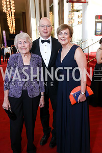 Wini Lumsden, Peter Ellefson, Deborah Rutter. Photo by Tony Powell. 2017 NSO Gala. Kennedy Center. September 24, 2017