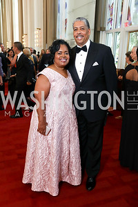 Gala Chairs Amanda and Earl Stafford. Photo by Tony Powell. 2017 NSO Gala. Kennedy Center. September 24, 2017