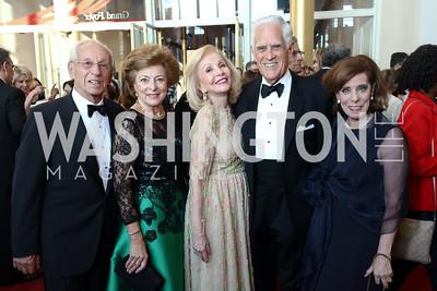 Albert Lichtmann, Judith Lichtmann, Evelyn Brandt, Chuck Miller, Patricia Sagon. Photo by Tony Powell. 2017 NSO Gala. Kennedy Center. September 24, 2017