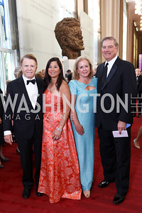 Gary and Tina Mather, Doreen and Eric Spiegel. Photo by Tony Powell. 2017 NSO Gala. Kennedy Center. September 24, 2017