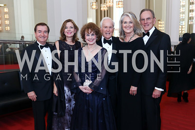 Rep. Ed Royce, Marie Royce, Ann Hand, Lloyd Hand, Sydney McNiff Johnson, Jay Johnson. Photo by Tony Powell. 2017 NSO Gala. Kennedy Center. September 24, 2017