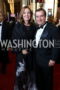 Marie Royce and Rep. Ed Royce. Photo by Tony Powell. 2017 NSO Gala. Kennedy Center. September 24, 2017