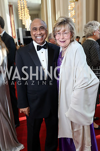 Frank Islam and Debbie Driesman. Photo by Tony Powell. 2017 NSO Gala. Kennedy Center. September 24, 2017