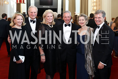 Maggie Shannon, David Deckelbaum, Tina and Albert Small, Christie and Jeff Weiss. Photo by Tony Powell. 2017 NSO Gala. Kennedy Center. September 24, 2017