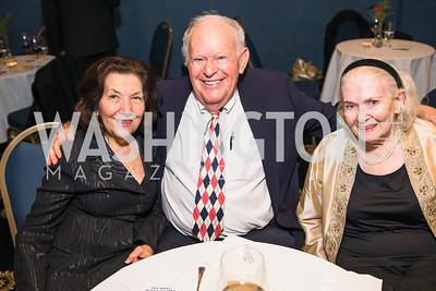 Lisette Barry, Kent Davis, Donna Shore  . Photo by Alfredo Flores.  2017 National Dialogue Awards. National Press Club. November 16, 2017.