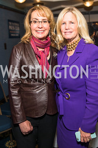 Gabrielle Giffords, Susan Blumenthal. Photo by Alfredo Flores.  2017 National Dialogue Awards. National Press Club. November 16, 2017.