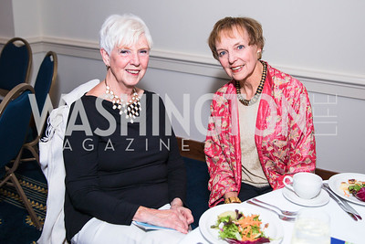 Gerry Eitner, Mary Jo Myers .   Photo by Alfredo Flores.  2017 National Dialogue Awards. National Press Club. November 16, 2017.