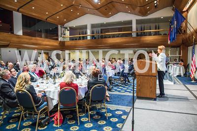 Congresswoman Nancy Pelosi, .  Photo by Alfredo Flores.  2017 National Dialogue Awards. National Press Club. November 16, 2017.