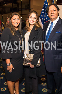 Sheeza Mahmood, Shunna Mahmood, Ray Mahmood.  Photo by Alfredo Flores.  2017 National Dialogue Awards. National Press Club. November 16, 2017.