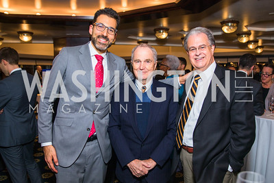 Matthew Rojansky, Philip Stewart, Thomas Gouttierre. Photo by Alfredo Flores.  2017 National Dialogue Awards. National Press Club. November 16, 2017.