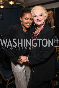 Mele Milton, Portia Davidson. Photo by Alfredo Flores.  2017 National Dialogue Awards. National Press Club. November 16, 2017.