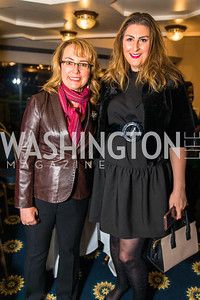 Gabrielle Giffords, Stephanie Misar. Photo by Alfredo Flores.  2017 National Dialogue Awards. National Press Club. November 16, 2017.