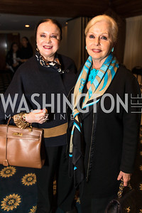 Monida Lind Greenberg, Judy Esfandiary. Photo by Alfredo Flores.  2017 National Dialogue Awards. National Press Club. November 16, 2017.