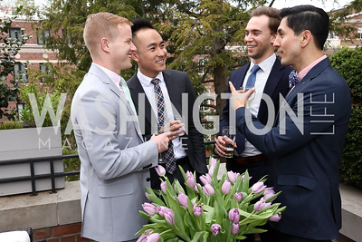 Nathan Cardon, Micheal Wong, Taylor Real, Flavio Cardon. Photo by Tony Powell. Netherlands Tulip Reception. April 5, 2017