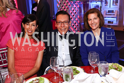 FCC Commissioner Jessica Rosenworcel, Felix Sanchez, Sen. Catherine Cortez Masto. Photo by Tony Powell. 2017 Noche de Gala. Mayflower Hotel. September 11, 2017