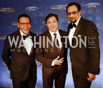 Felix Sanchez, Benito Martinez, Jimmy Smits. Photo by Tony Powell. 2017 Noche de Gala. Mayflower Hotel. September 11, 2017