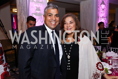 Juan Otero, Former Rep. Loretta Sanchez. Photo by Tony Powell. 2017 Noche de Gala. Mayflower Hotel. September 11, 2017