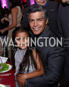 Mariana and Esai Morales. Photo by Tony Powell. 2017 Noche de Gala. Mayflower Hotel. September 11, 2017
