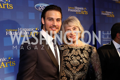 Ryan Guzman, Merel Julia. Photo by Tony Powell. 2017 Noche de Gala. Mayflower Hotel. September 11, 2017