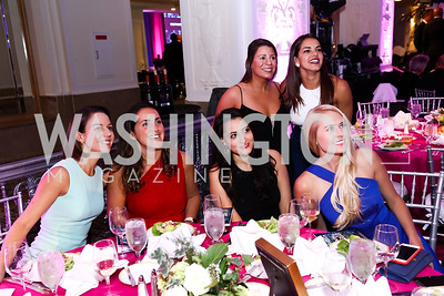 Janet Rodriguez, Patricia Cartes, Vanessa Taylor, Tina Pant, Andrea Pereira, Lauren Culbertson. Photo by Tony Powell. 2017 Noche de Gala. Mayflower Hotel. September 11, 2017