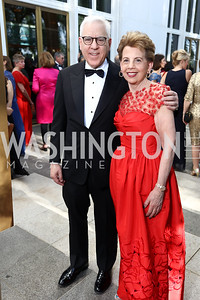 David Rubenstein, Adrienne Arsht. Photo by Tony Powell. 2017 Opera Ball. Kennedy Center. June 3, 2017