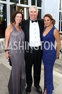 Diane Ray Brown, Jeff Lovallo, Francesca Gorgone. Photo by Tony Powell. 2017 Opera Ball. Kennedy Center. June 3, 2017