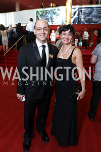 Michael Solomon, Claudia Cotca. Photo by Tony Powell. 2017 Opera Ball. Kennedy Center. June 3, 2017