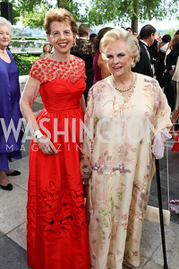 Adrienne Arsht, Jacqueline Badger Mars. Photo by Tony Powell. 2017 Opera Ball. Kennedy Center. June 3, 2017