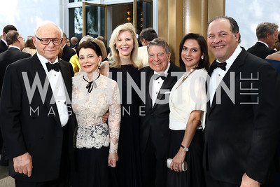 John and JoAnn Mason, Jane Cafritz. Luciana Gonzalez-Revilla and Panama Amb. Emanuel Gonzalez-Revilla. Photo by Tony Powell. 2017 Opera Ball. Kennedy Center. June 3, 2017