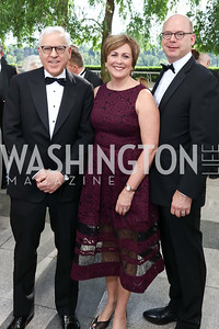 David Rubenstein, Deborah Rutter and Peter Ellefson. Photo by Tony Powell. 2017 Opera Ball. Kennedy Center. June 3, 2017