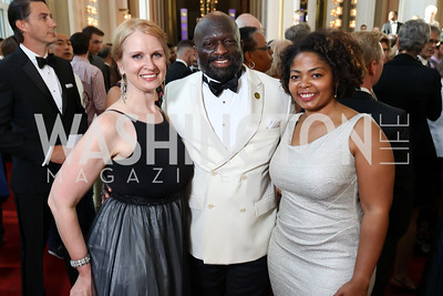 Suzanne Struglinski, Jeff Ballou, Khendra Peay. Photo by Tony Powell. 2017 Opera Ball. Kennedy Center. June 3, 2017