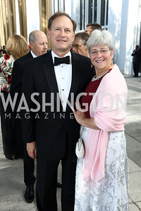 Justice Samuel Alito and Martha Ann Alito. Photo by Tony Powell. 2017 Opera Ball. Kennedy Center. June 3, 2017