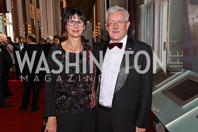 Anita Dahinden and Switzerland Amb. Martin Dahinden. Photo by Tony Powell. 2017 Opera Ball. Kennedy Center. June 3, 2017