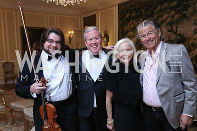 Salvatore Amadeo, Stephen Czarkowski, Gayela Bynum, Richard Wilde. Photo by Tony Powell. 2017 Opera Camerata Gala. Residence of Portugal. April 8, 2017