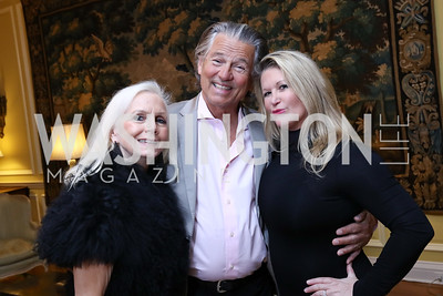Gayela Bynum, Richard Wilde, Kimberly Wilde Warfield. Photo by Tony Powell. 2017 Opera Camerata Gala. Residence of Portugal. April 8, 2017