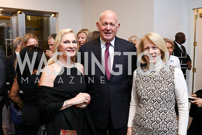 Susan and Michael Pillsbury, Susan Ginsburg. Photo by Tony Powell. 2017 PEN Faulkner Gala. The Showroom. October 16, 2017