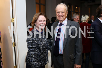 Elizabeth and George Stevens. Photo by Tony Powell. 2017 PEN Faulkner Gala. The Showroom. October 16, 2017