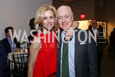 Katherine and David Bradley. Photo by Tony Powell. 2017 PEN Faulkner Gala. The Showroom. October 16, 2017