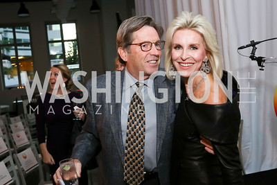 Randy Cone, Mary Haft. Photo by Tony Powell. 2017 PEN Faulkner Gala. The Showroom. October 16, 2017