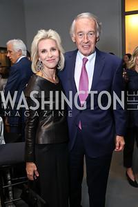 Mary Haft, Sen. Ed Markey. Photo by Tony Powell. 2017 PEN Faulkner Gala. The Showroom. October 16, 2017